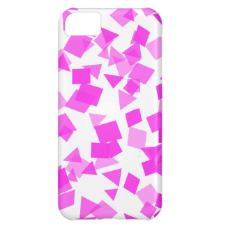 Bright Pink Confetti on White iPhone 5C Cases