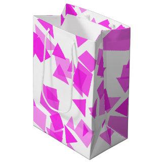 Bright Pink Confetti on White Medium Gift Bag