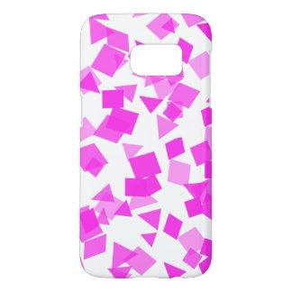 Bright Pink Confetti on White Samsung Galaxy S7 Case