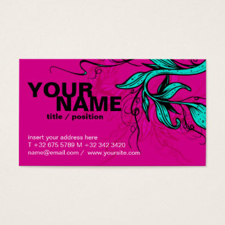 Bright pink/cyan Card