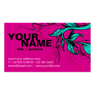 Bright pink/cyan Card Double-Sided Standard Business Cards (Pack Of 100)