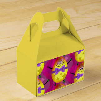 Bright Pink Easter Party Favor Box
