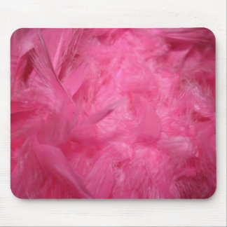 Bright Pink Feather Boa Mouse Pad