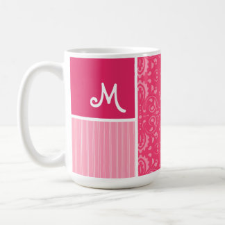 Bright Pink Floral Coffee Mugs