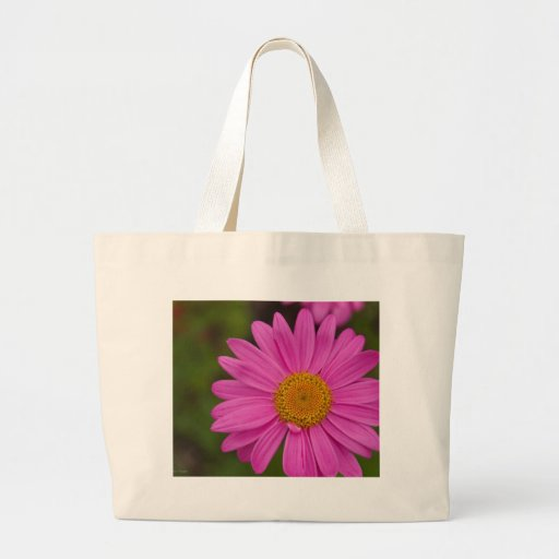 Bright Pink Flower Canvas Bag