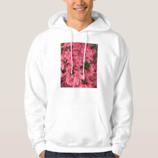 Bright pink flowering bush hoodie