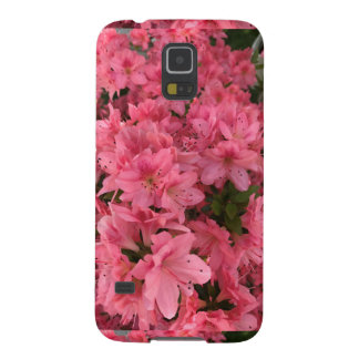 Bright pink flowering bush in the spring case for galaxy s5
