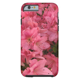 Bright pink flowering bush in the spring tough iPhone 6 case