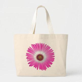 Bright Pink Gerber Daisy Flower in full bloom Canvas Bag