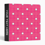 Bright Pink Golf Ball Pattern 3 Ring Binder