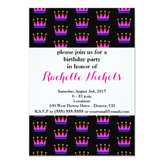 Bright Pink Gradient Crown Card