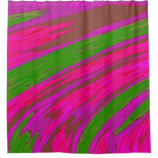 Bright Pink Green Color Abstract Design