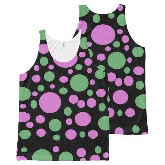 Bright Pink Green Polka Dots