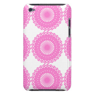 Bright Pink Lace Pattern Design. iPod Case-Mate Cases