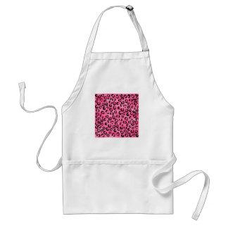 Bright Pink Leopard Print Pattern. Standard Apron