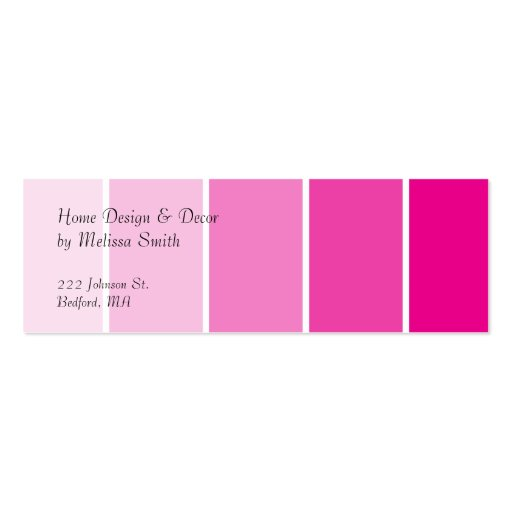 Bright Pink Paint Samples Business Card