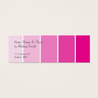 Bright Pink Paint Samples Mini Business Card