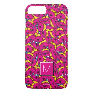 Bright Pink Pattern   Monogram iPhone 8 Plus/7 Plus Case