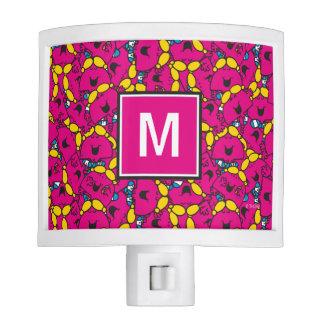 Bright Pink Pattern | Monogram Nite Lites