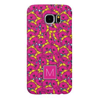 Bright Pink Pattern   Monogram Samsung Galaxy S6 Case