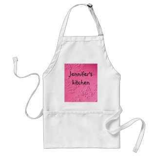 Bright Pink personalized name or initials Standard Apron