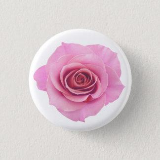 Bright Pink Photographic Rose Flower 1 Inch Round Button