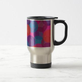Bright Pink, Purple, Blue & Orange Design Travel Mug