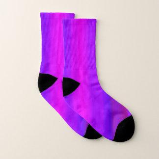 Bright Pink Purple Fuchsia Stripe Pattern Socks