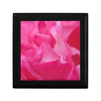 Bright Pink Rose Petals Trinket Box