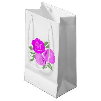 Bright Pink Roses Gift Bag