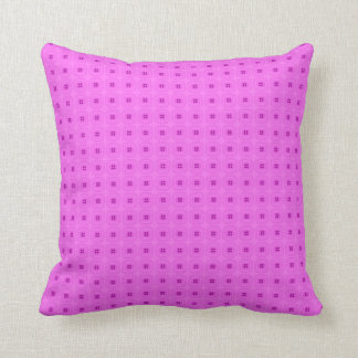 Bright Pink Small Retro Flower Design Cushion