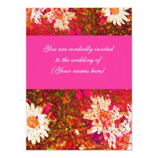 Bright Pink Springtime Wedding Invite