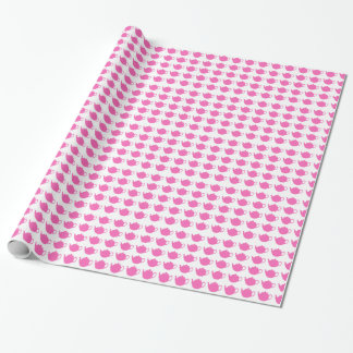 Bright Pink Teapots Gift Wrap