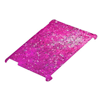 Bright Pink Tones Glitter Texture Cover For The iPad