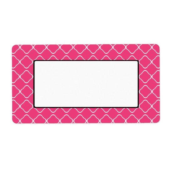 Bright Pink Trellis Label/Tag
