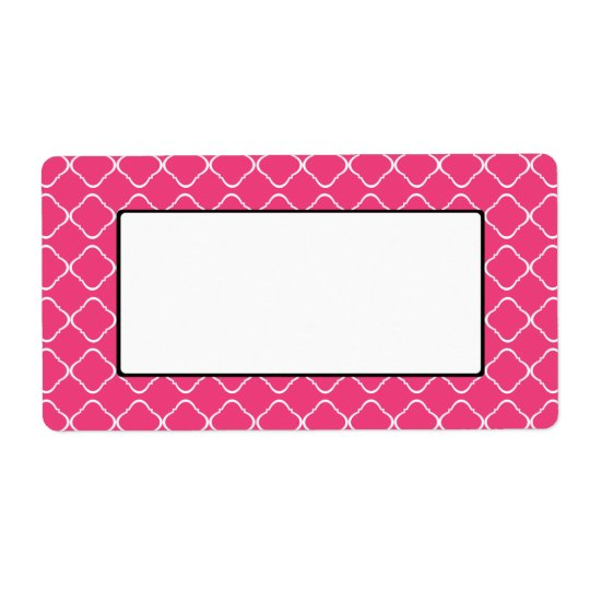Bright Pink Trellis Label/Tag Shipping Label