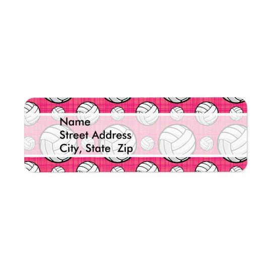 Bright Pink Volleyball Pattern