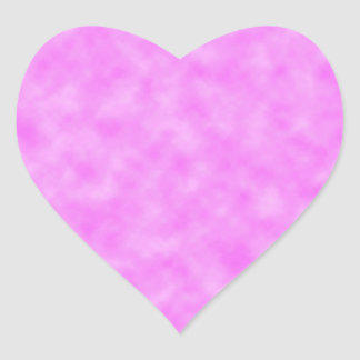 Bright Pinkish Purple Cloudy Pattern Design Heart Sticker