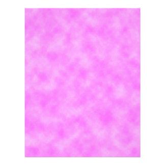 Bright Pinkish Purple Cloudy Pattern Design Letterhead