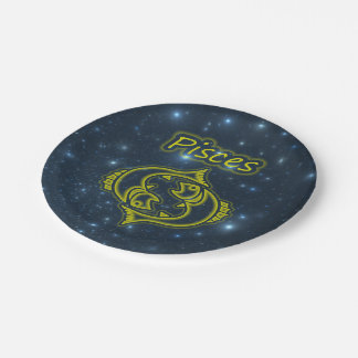 Bright Pisces Paper Plate