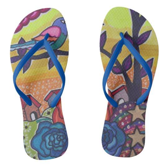 Bright place flip flops