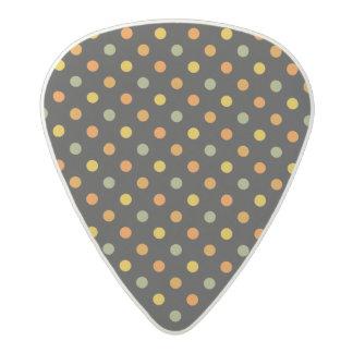 Bright Polka Dot Pattern Acetal Guitar Pick