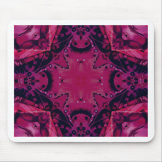 Bright Pop Neon Magenta Artistic Pattern Mouse Pad