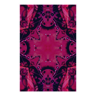Bright Pop Neon Magenta Artistic Pattern Stationery