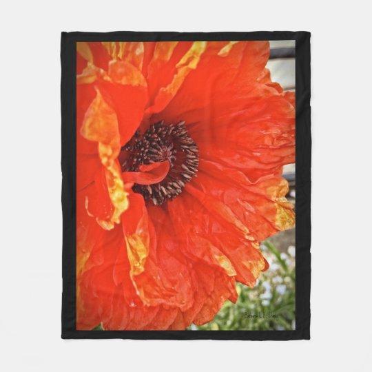 Bright Poppy Medium Fleece Blanket