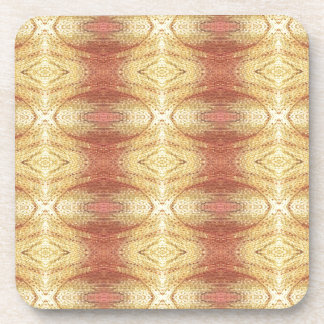 Bright positive yellow dominate pattern. coaster