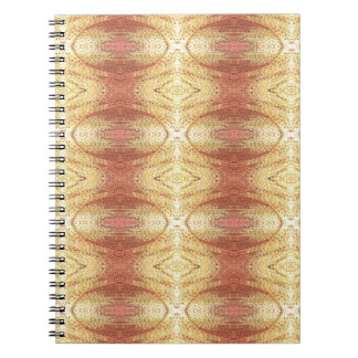 Bright positive yellow dominate pattern. spiral note book