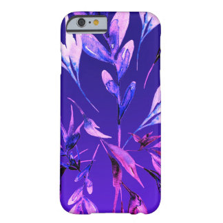 Bright Purple Bold Watercolor Botanical Elegant Barely There iPhone 6 Case