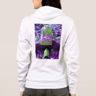Bright Purple Buddha Womens House Hoodie