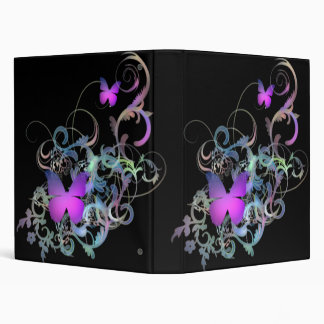 Bright Purple Butterflies 3 Ring Binders